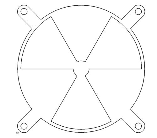PC Lüftungsgitter - PC ventilation grille