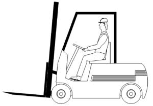 Gabelstapler Zinken unten - Forklift tines down