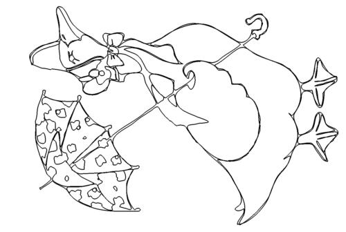 Gans mit Regenschirm - Goose with umbrella