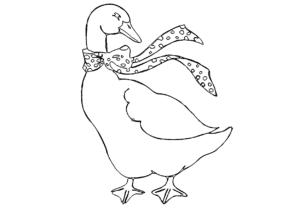 Gans mit Schal - Goose with scarf