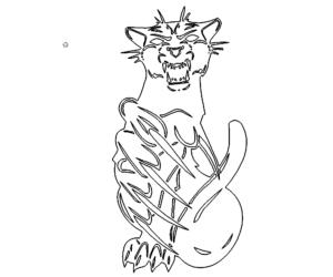 Aggressiver Tiger - aggressive Tiger