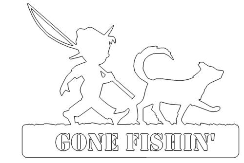 GONE FISHIN Angeln Hund Fischen - Gone Fishin Fishing Dog Fishing