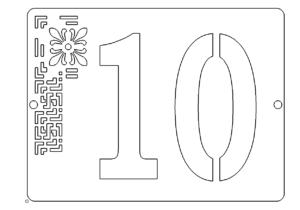 Hausnummer 10 - House Number