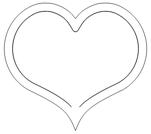 Herz mit Innenkontur - Heart with inner contour