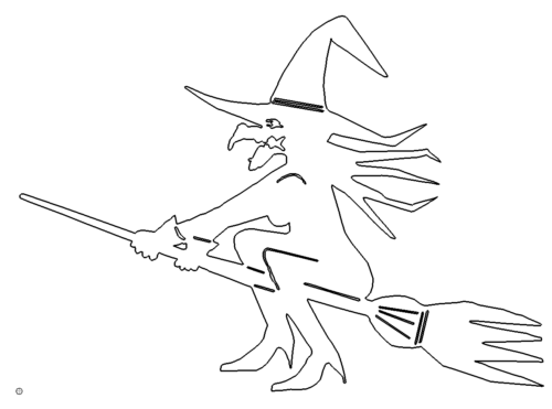 Hexe auf Besen - Witch on Broom