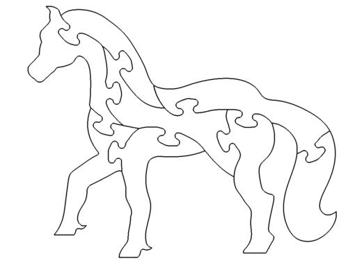 Pferd als Puzzle - Horse puzzle