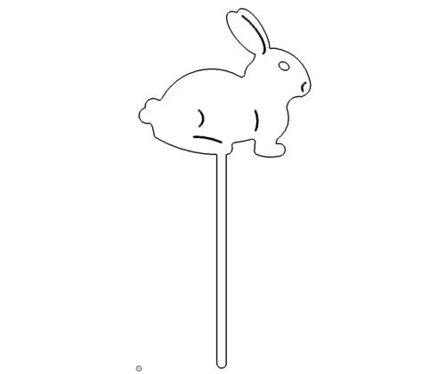 Hase zum einstecken in den Boden - Hase for insertion into the ground