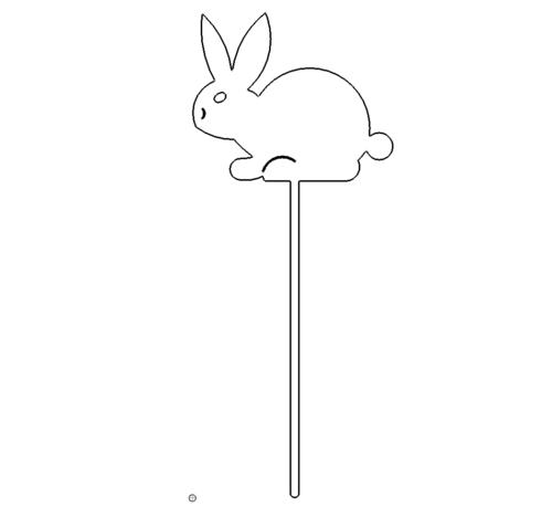 Hase zum einstecken in den Boden - Rabbit with egg for insertion into the ground
