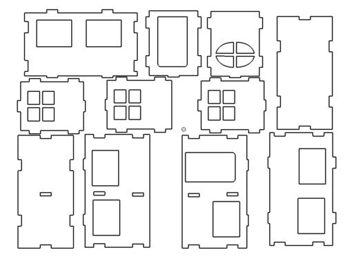 Haus 3D Modell - House 3D Model