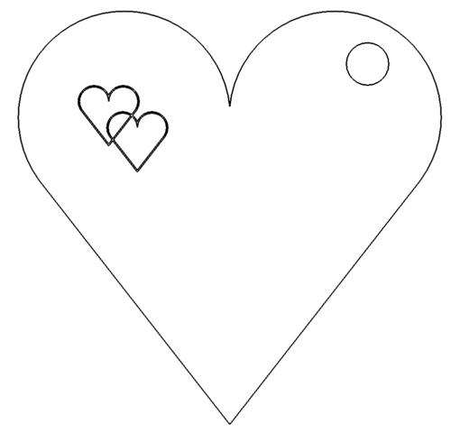 Herz Anhänger Dxf