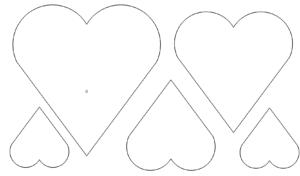 Sammlung von Herzen