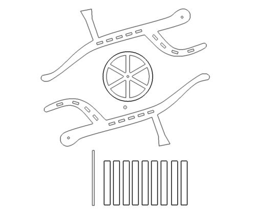 Heukarren 3D Modell - Hay carts 3D Modell