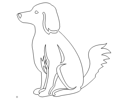 Hund sitzend - dog sitting