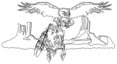 Indianer fliegender Adler - Indianer flying Eagle
