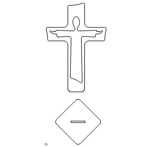 Jesus mit Stand - Jesus with Stand
