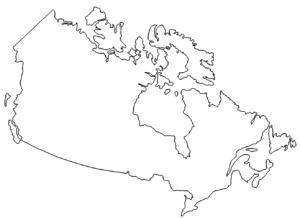 Landkarte Kanada -  Map Canada