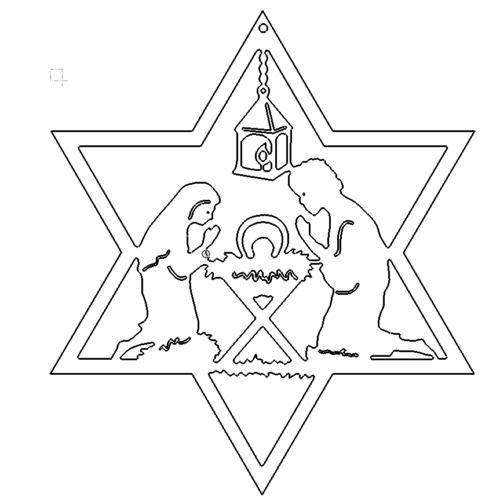Krippe im Stern - Crib in the constellation