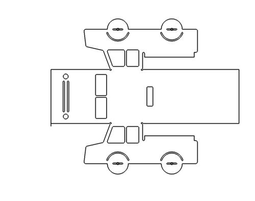 LKW zum Kanten - Trucks for edges