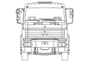 LKW Mercedes vorne