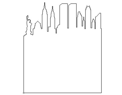 Skyline von Manhatten