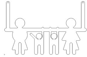 Türgarderobe Familie - Door hanger family