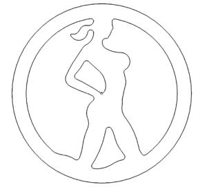 Frau Emblem Logo - Woman Emblem Logo