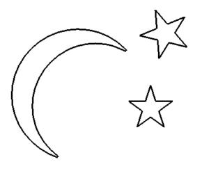 Mond Sterne - Moon Stars
