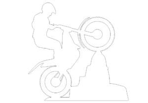 Motorrad Stunt