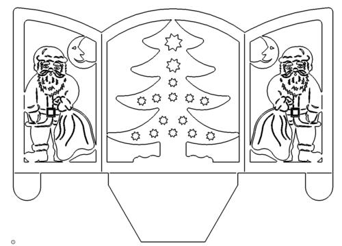 Nikolaus Teelichthalter - Santa Claus Tealight holder