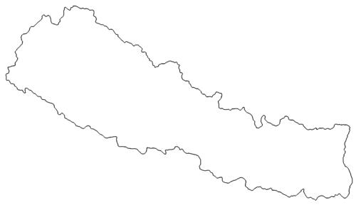 Landkarte Nepal - map Nepal