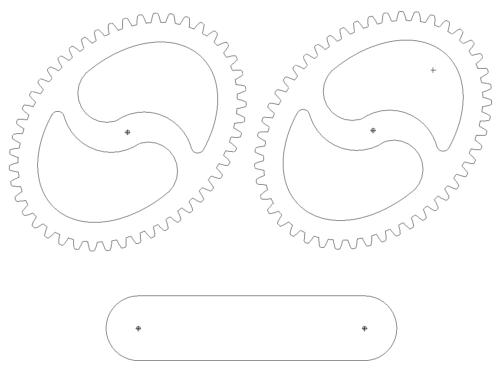 Ovale Zahnräder