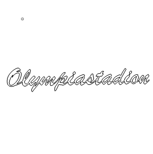 Schrift Olympiastadion