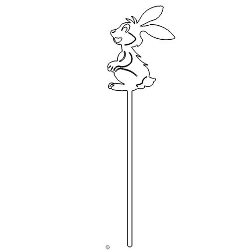 Osterhase zum einstecken in den Boden -  Easter bunny for insertion into the ground