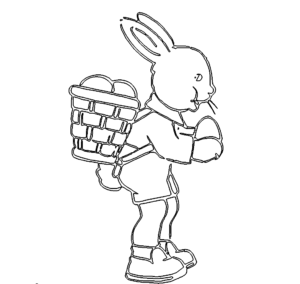 Osterhase mit Korb - Easter bunny with basket