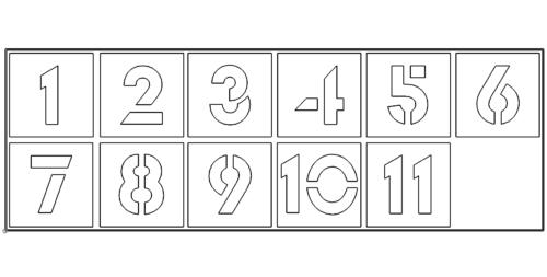 Zahlen 0 bis 10 - Number zero till ten