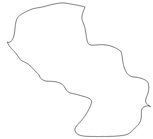 Landkarte Paraguay - map Paragua