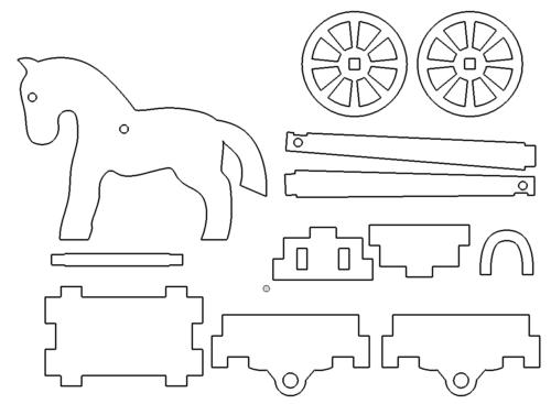 Pferd 3D Modell - Horse