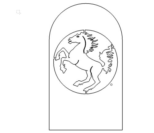 Pferde Schild - Horse Shild
