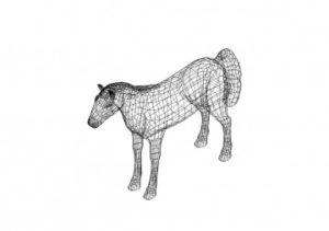 Pferd 3D Zeichnungen - Horse 3D drawings