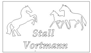 Schild mit Pferd - Sign with horse