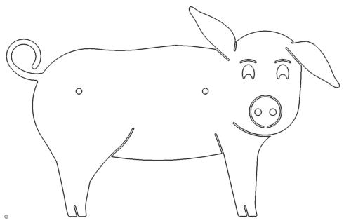 Schwein Schild - pig sign