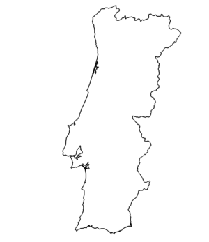 Landkarte Portugal - map Portugal