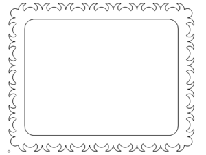 Bilderrahmen mit Verzierungen - Picture frame with ornaments