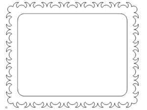 Bilderrahmen mit Verzierungen - Picture frame with ornaments