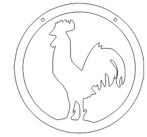 Hahn Schild - Cock shield
