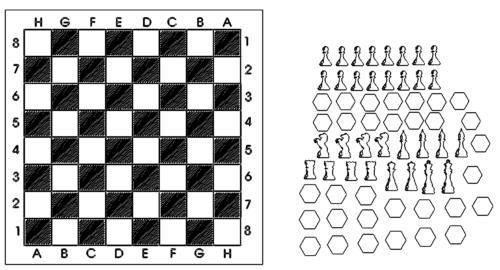 Schachbrett Schachspiel