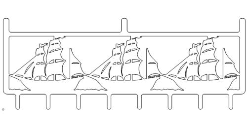 Schiff Garderobenhalter - Ship wardrobe holder
