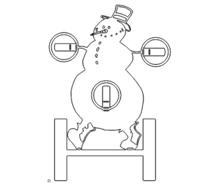 Schneemann als Teelichthalter - Snowman tealight holder