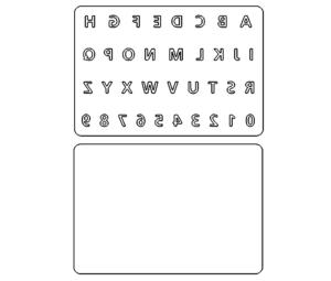Alphabet Spiegelbild - Alphabet Mirror Image