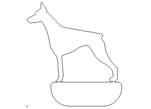 stehender Hund Schild - standing dog holding sign